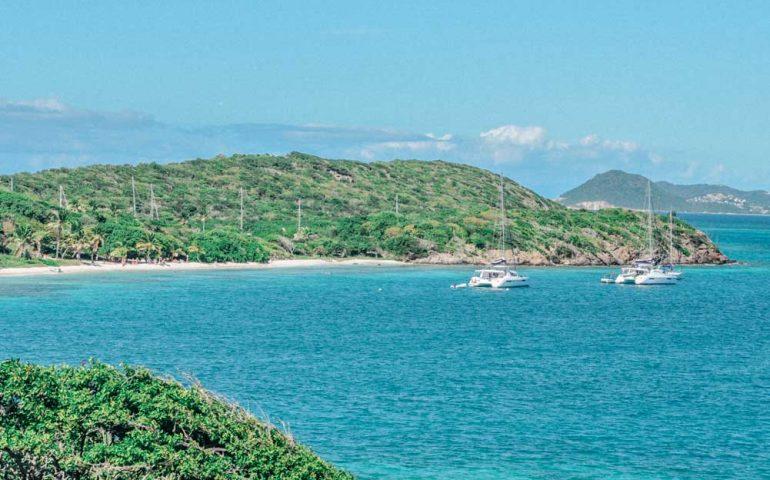 Katamaran segeln in Karibik